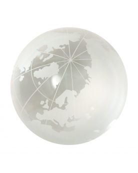 MyGlassMarbles - 1 Marble WorldMap Cristal 40 mm Glass Marbles by My GlassMarble