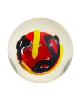 1 marble Creative Madness Red - Marble 16 mm by My Glass Marbles