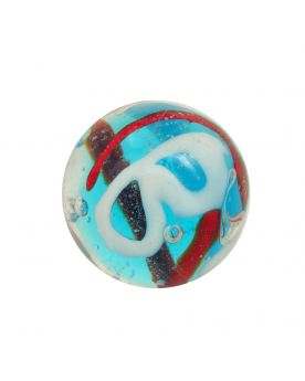 1 marble Creative Madness Blue - Marble 16 mm by My Glass Marbles