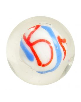 1 marble Creative Madness White - Marble 16 mm by My Glass Marbles