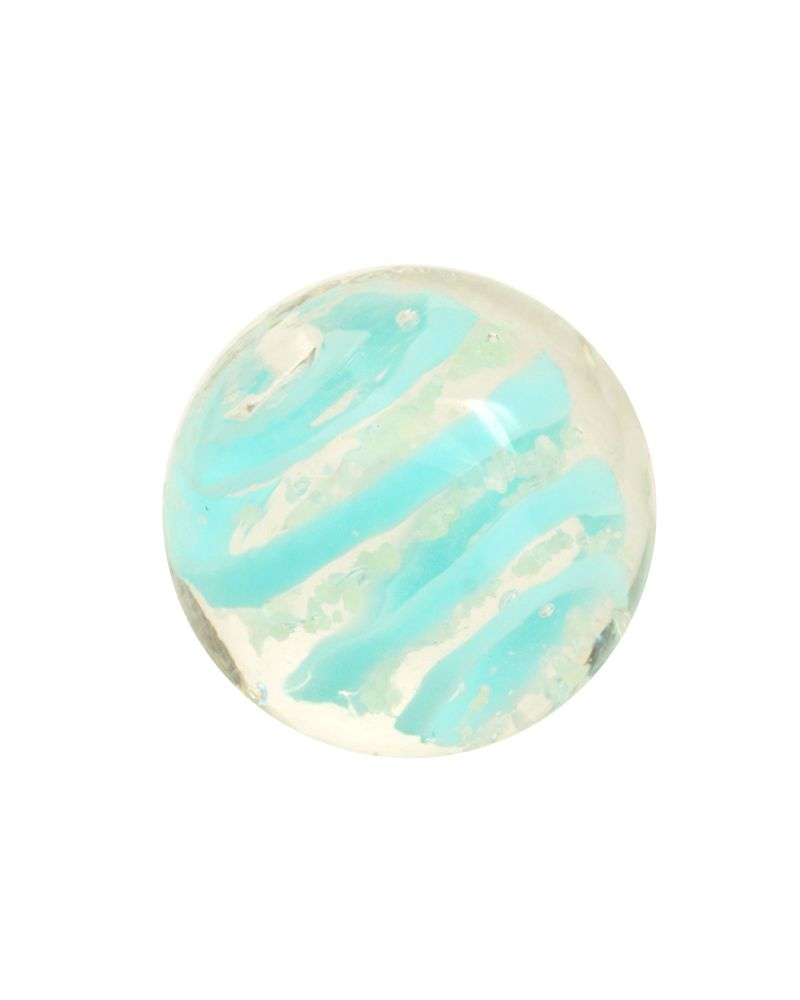 1 marble Light Blue Phosphorescent Tourbillon - Marble 16 mm by My Glass Marbles
