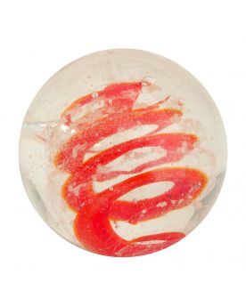 1 marble Red Phosphorescent Tourbillon - Marble 16 mm by My Glass Marbles