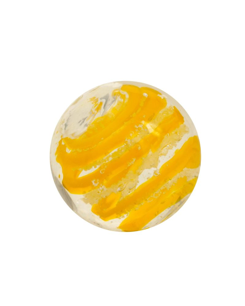 1 marble yellow Phosphorescent Tourbillon - Marble 16 mm by My Glass Marbles