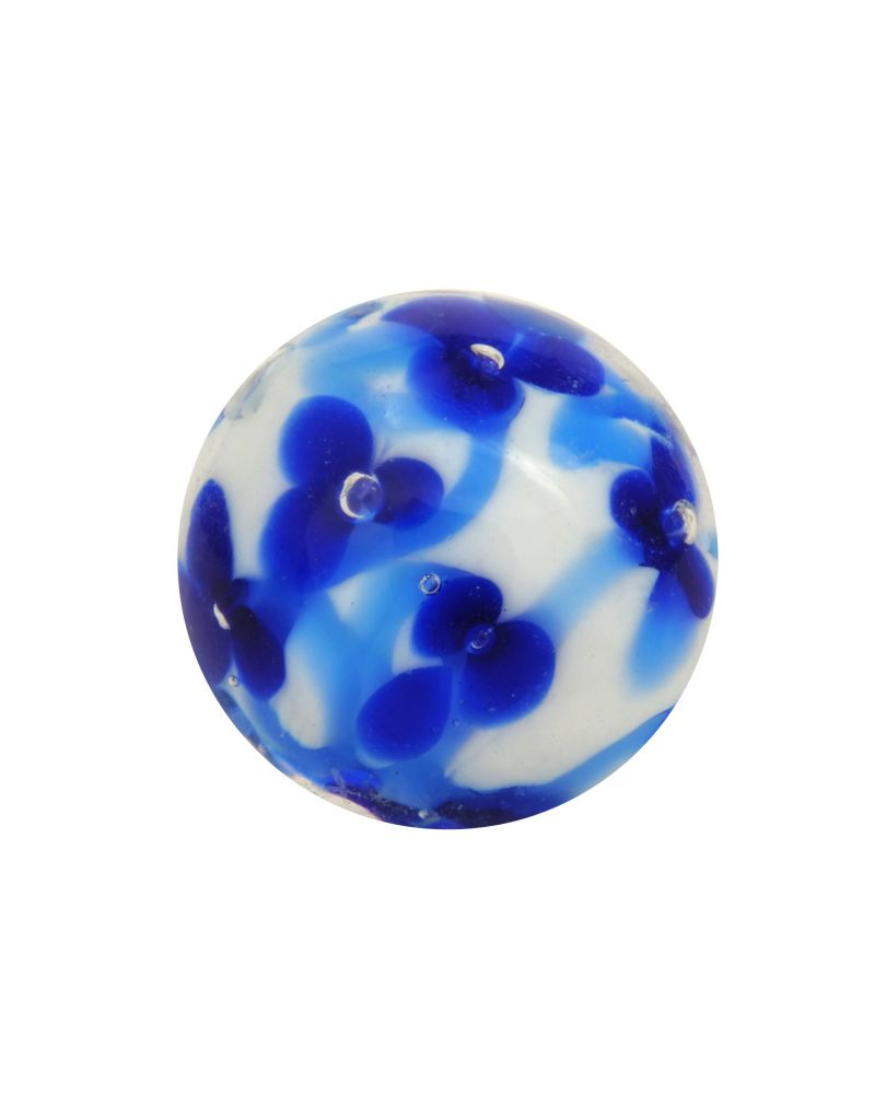 1 marble Blue meadow - Marble 16 mm by My Glass Marbles