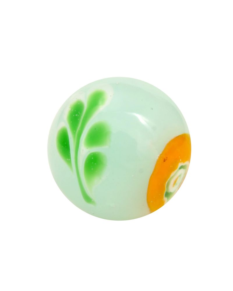 1 Marble Underwater plant - 16 mm glass art marble