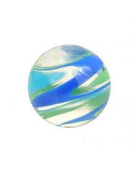 1 marble Flash Speedy Blue - Marble 16 mm by My Glass Marbles