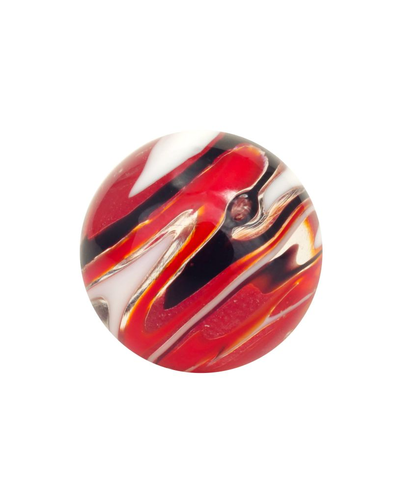 1 marble Flash Speedy Black - Marble 16 mm by My Glass Marbles