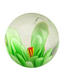 1 Marble Green Flower Art Marble 20 mm Glass Marbles