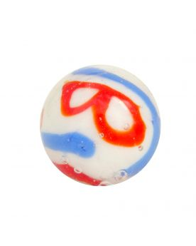 1 marble Creative Madness White - Marble 20 mm by My Glass Marbles