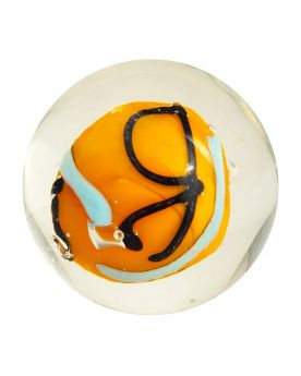 1 marble Creative Madness Orange - Marble 20 mm by My Glass Marbles
