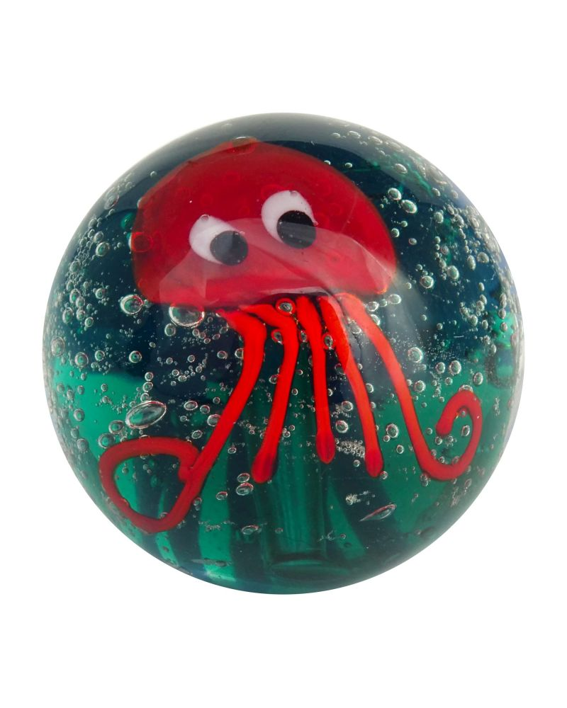1 glass art marble Octopus - 20 mm glass marble