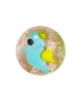 1 glass art marble Sea Horse - 20 mm glass marble