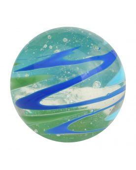 1 marble Flash Speedy Blue - Marble 20 mm by My Glass Marbles
