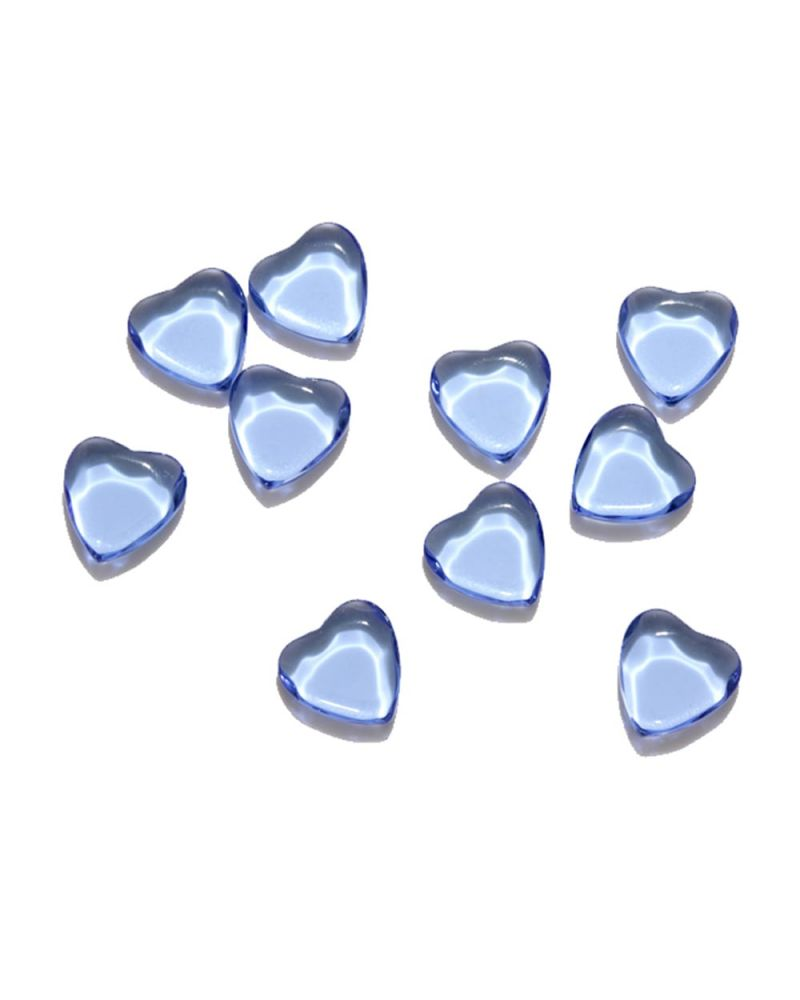 1 Marble Heart Shapes Light Blue - 20 mm flat glass marble