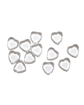 1 Marble Heart Shapes Crystal - 20 mm flat glass marble