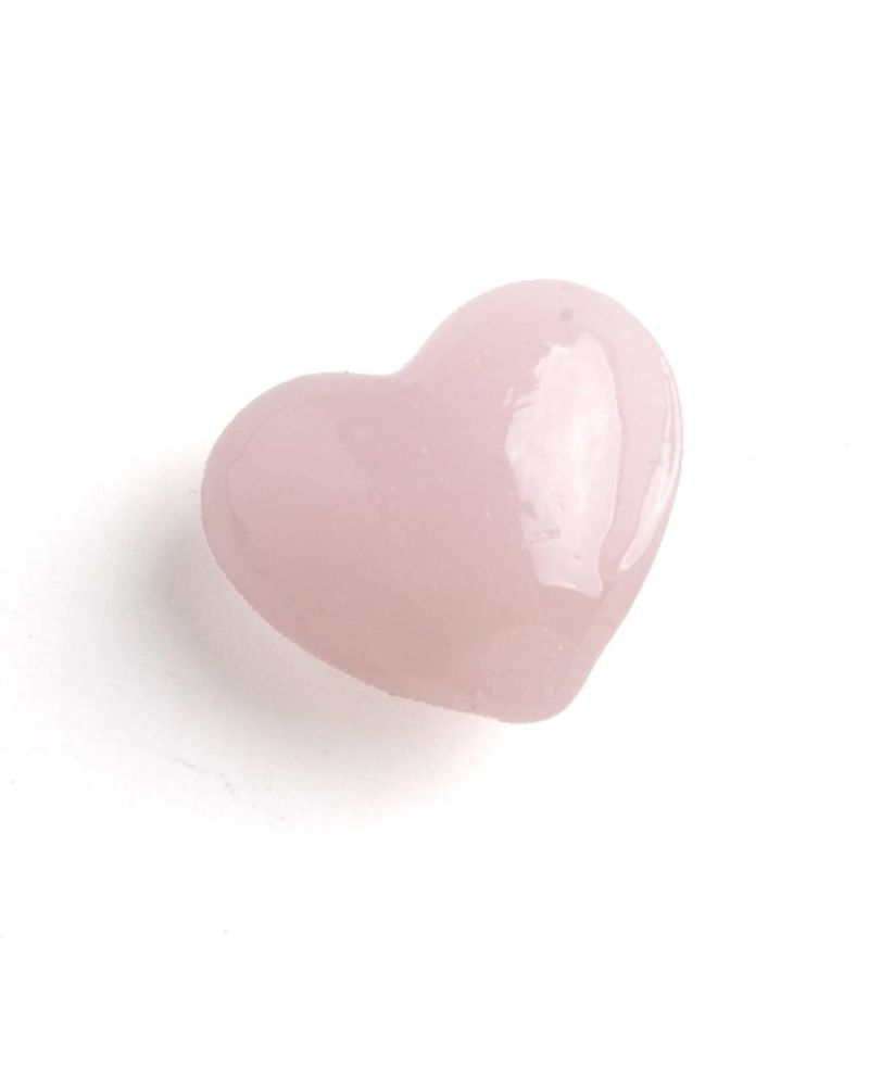 1 Marble Heart Shapes Pink - 20 mm flat glass marble