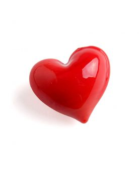 1 Marble Heart Shapes Red - 20 mm flat glass marble
