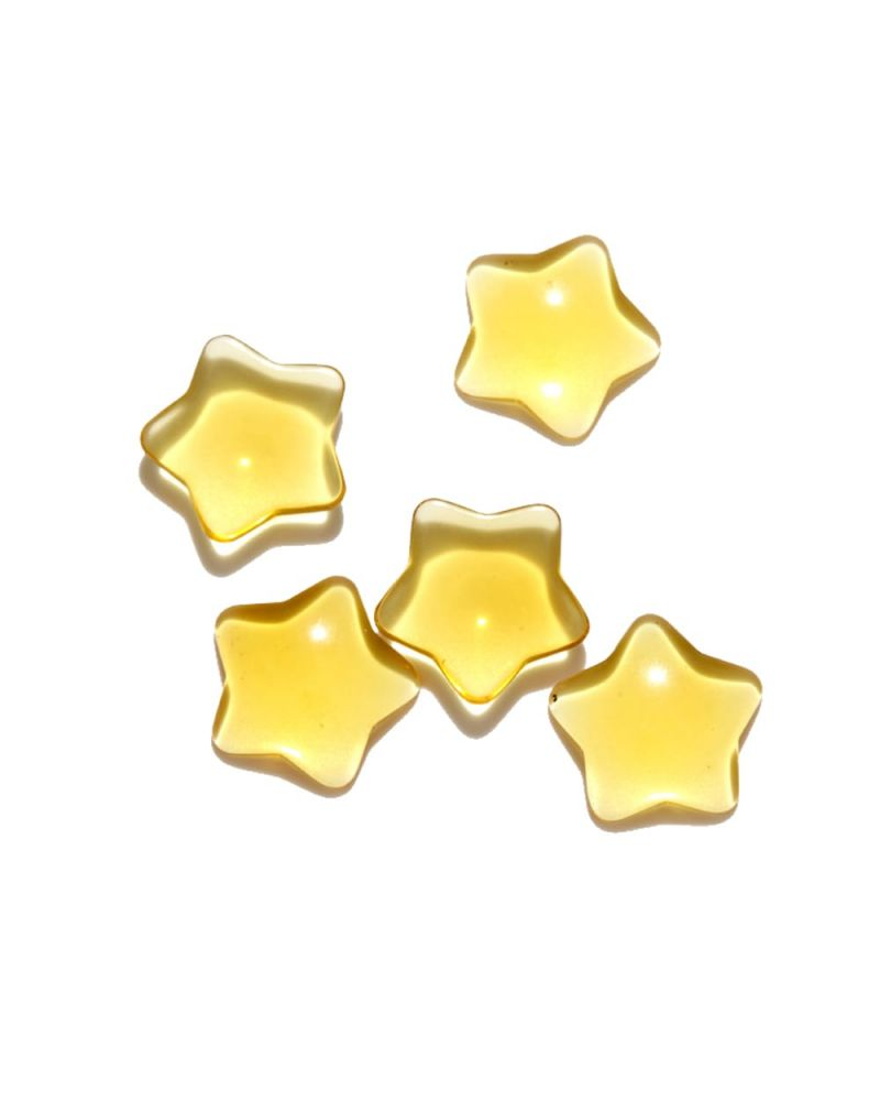 1 Marble Yellow Star Shapes - 20 mm flat glass marble