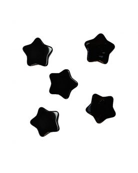 1 Marble Black Star Shapes - 20 mm flat glass marble