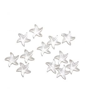 1 Marble Crystal Starfish Shapes - 20 mm flat glass marble