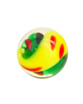 1 Marble Green Yin et Yang - 16 mm marble