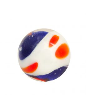 1 Marble Blue Yin et Yang - Marble 16 mm