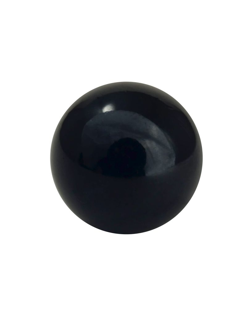 1 Little Marble Pearl Black 14 mm Glass Marbles