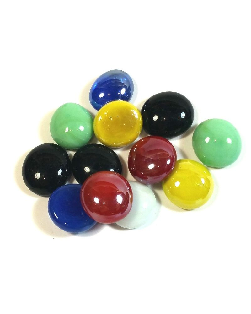 1 Flat Marble Colors Plate 16 mm Flat GlassMarbles