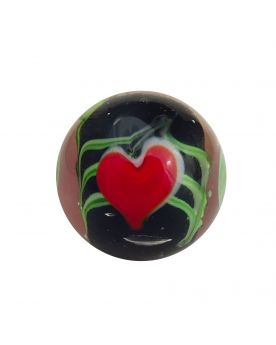 1 Marble Art Love 16 mm Glass Marbles