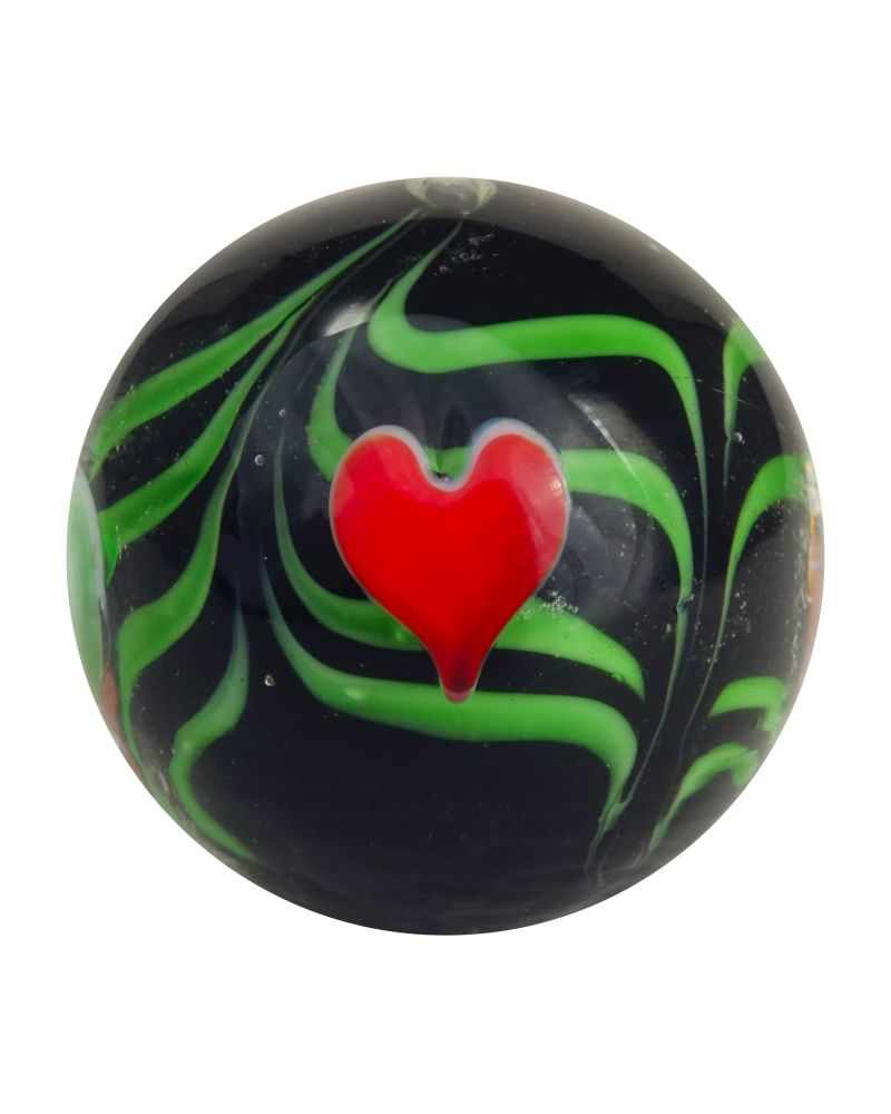 1 big Marble Love  20 mm Glass Marbles