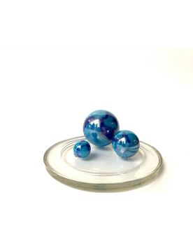 1 Family Glass Marbles Blue China - MyGlassMarbles