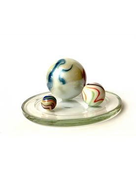 1 Family Glass Marbles Chiffonnée - MyGlassMarbles