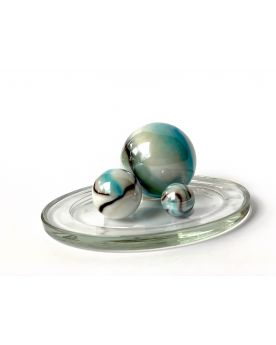 1 Family Glass Marbles Tigre Blanc - MyGlassMarbles
