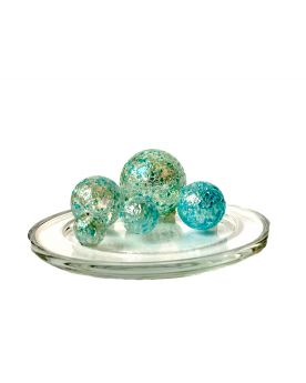 1 Family Glass Marbles Blue Nugget - MyGlassMarbles