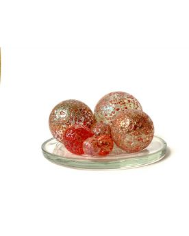 1 Family Glass Marbles Red Nugget  - MyGlassMarbles