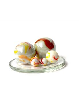 1 Family Glass Marbles Tigre Orange - MyGlassMarbles