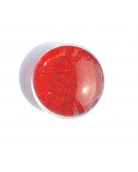 1 Flat Magnetic Marble Red - GlassMarbles 25 mm