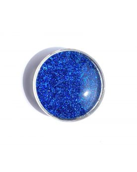1 Flat Magnetic Marble Dark Blue - GlassMarbles 25 mm
