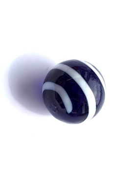 1 Marble Super equinox Blue - Marble 20 mm by My Glass Marbles
