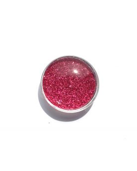 1 Flat Magnetic Marble Pink - GlassMarbles 25 mm