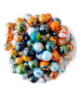 60 Glass Marbles Premium - SOLIDAIRE