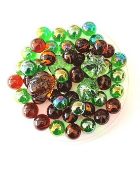 55 Marbles Forest - Glass Marble Bag - MyMarbles