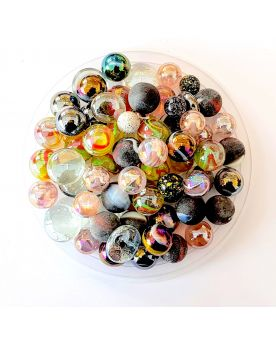 55 Marbles Black-Hole - Glass Marble Bag - MyMarbles