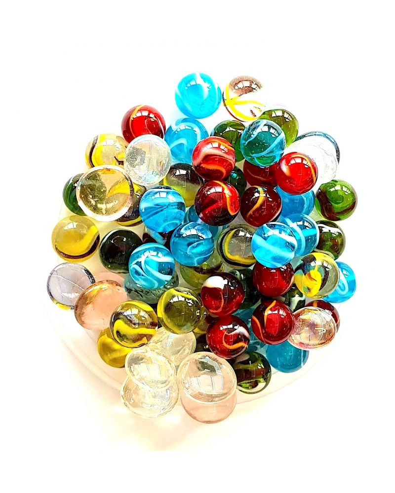 55 Marbles Transparency - Glass Marble Bag - MyMarbles