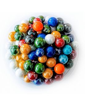 100 Marbles Glossy - GlassMarbles Bag - MyMarbles