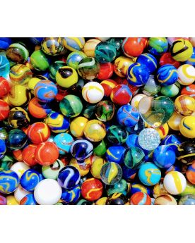 100 Marbles All different - GlassMarbles Bag - MyMarbles