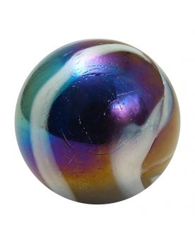 1 Giant Marble Petroleum 50 mm Glass Marbles - MyMarbles