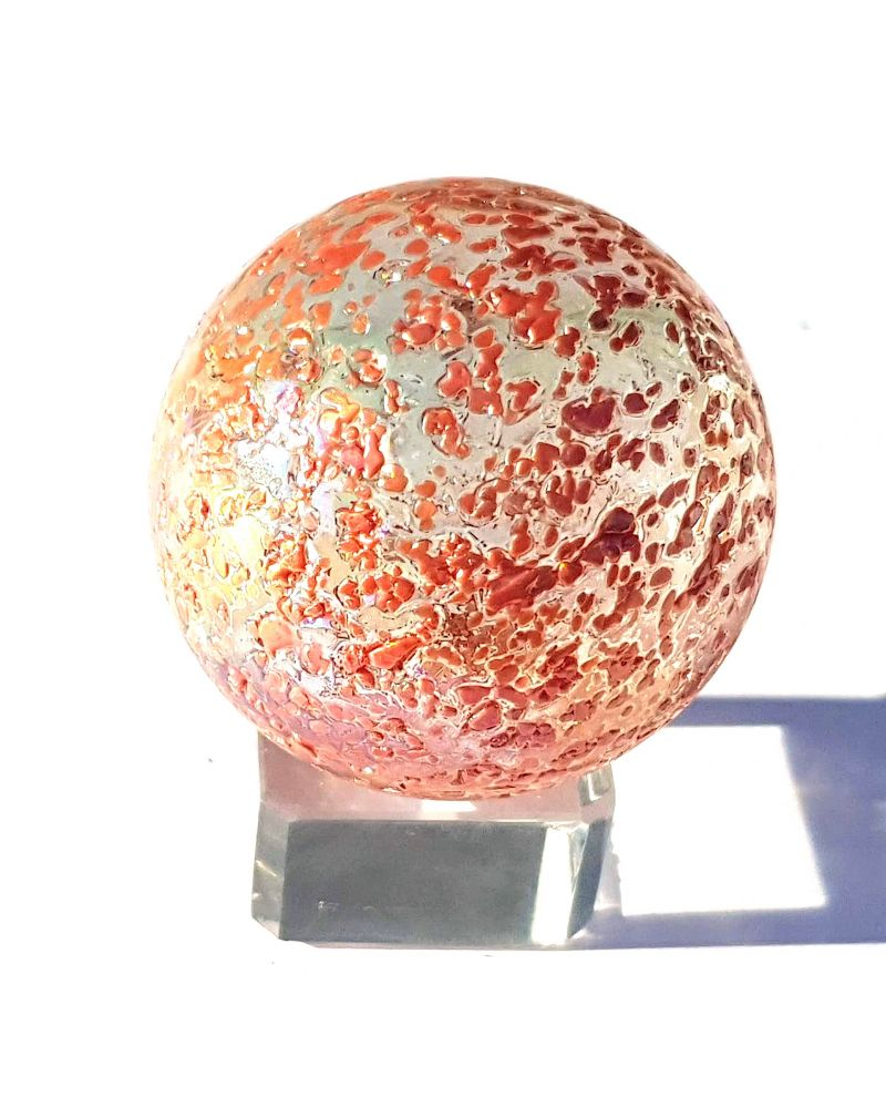 1 Giant Marble Red Nugget  50 mm Glass Marbles