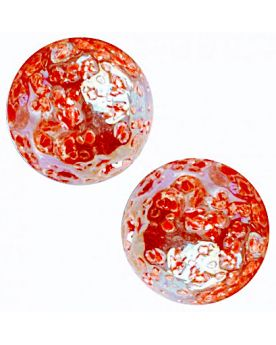1 Large Marble Red Nugget Glass Marble 35 mm