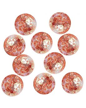 1 Little Marble Red Nugget  14 mm Glass Marbles